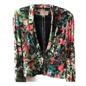Philosophy floral blazer with necklace as gift